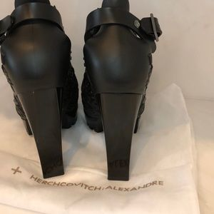Melissa + Alexandre Herchcovitch Shoes - Brand new Melissa Black floral booties